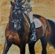 """""""Concentration"""" Jen Wright. Acrylic. 24"""" x 24"""""""