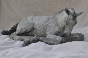 Jen Wright 'In the Spring Sun' Paper mache 34 x 16 x 21
