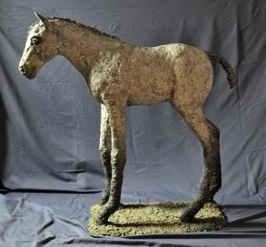 Jen Wright 'Spring Foal' paper mache 41x42x12 2010