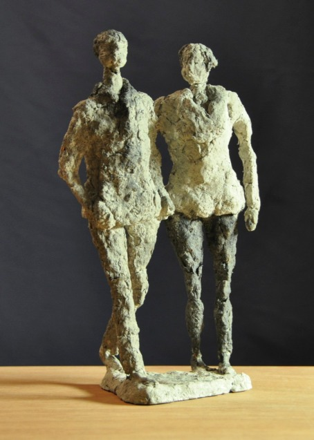 Jen Wright 'When We Walk' paper mache 10x6x4 2010