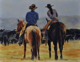 Jen Wright %22Planning Meeting%22 Acrylic on Canvas. 8x10