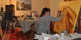 I share my studio with Deb Wellburn